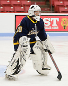 Kasey Martin (Windsor - 20) made 21 saves in the game. - The Boston University Terriers defeated the visiting University of Windsor Lancers 4-1 in a Saturday afternoon, September 25, 2010, exhibition game at Walter Brown Arena in Boston, MA.