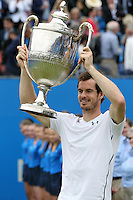 LONDON, ENGLAND - JUNE 19: Andy Murray of Great Britain wins in final match against Milos Raonic of Canada on day 7 at Queens Club on June 19, 2017 in London, England. <br /> CAP/GOL<br /> &copy;GOL/Capital Pictures /MediaPunch ***NORTH AND SOUTH AMERICAS ONLY***