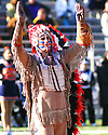 Chief Illini performs at halftime in the game between Illinois and Northwestern on November 19, 2005 at Memorial Stadium in Champaign, Illinois.  Northwestern defeated Illinois 38-21.