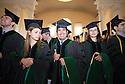 Lindsay Thornton, left, Peymaun Vakhshoorzadeh, Cristine Velazco. Commencement, class of 2013.