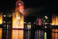 Orlando, Florida - Circa 1986. Fireworks show at Disney Land. Disney World is a world-renowned entertainment complex that opened October 1, 1971 in Lake Buena Vista, FL. Now known as the Walt Disney World Resort, the property covers 25,000 acres and has an annual attendance of 52.5million people.