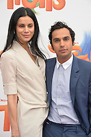 LOS ANGELES, CA. October 23, 2016: Actor Kunal Nayyar &amp; wife Neha Kapur at the Los Angeles premiere of &quot;Trolls&quot; at the Regency Village Theatre, Westwood.<br /> Picture: Paul Smith/Featureflash/SilverHub 0208 004 5359/ 07711 972644 Editors@silverhubmedia.com