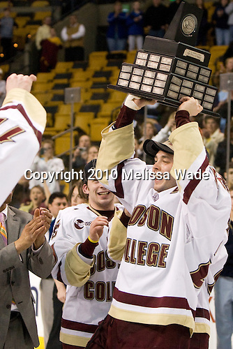 (Lyles, Almeida) Matt Price (BC - 25) - The Boston College Eagles defeated the University of Maine Black Bears 7-6 in overtime to win the Hockey East championship on Saturday, March 20, 2010, at TD Garden in Boston, Massachusetts.