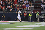 Southern Illinois' Rik Hicks (44) catches a touchdown pass against Ole Miss at Vaught-Hemingway Stadium in Oxford, Miss. on Saturday, September 10, 2011.