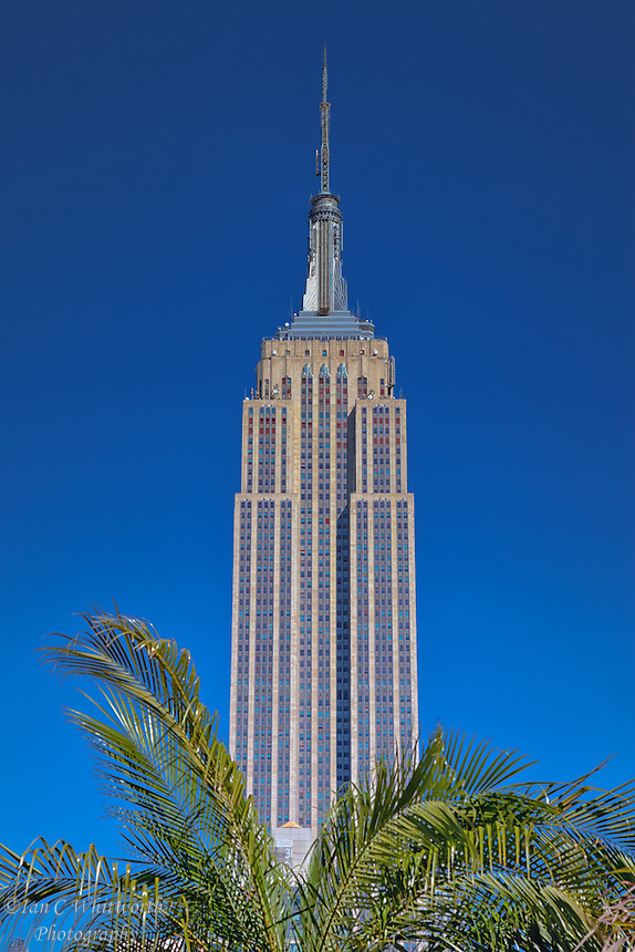 The Empire State Building as seen from the rooftop patio at 230 Fifth Ave in NYC