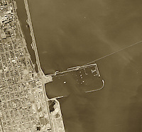 historical aerial photograph Berkeley Marina, 1946