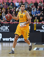 Basketball  1. Bundesliga  2016/2017  Hauptrunde  12. Spieltag  04.12.2016 Walter Tigers Tuebingen - ratiopharm Ulm Jared Jordan (Tigers) am Ball