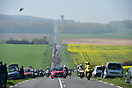 The peloton at 26km during the 115th edition of the Paris-Roubaix 2017 race running 257km Compiegne to Roubaix, France. 9th April 2017.<br /> Picture: ASO/P.Ballet | Cyclefile<br /> <br /> <br /> All photos usage must carry mandatory copyright credit (&copy; Cyclefile | ASO/P.Ballet)