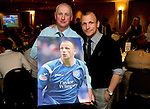 St Johnstone FC Players Awards Night...01.05.11  Lovatt Hotel Perth..Jody Morris and Mike Crichton.Picture by Graeme Hart..Copyright Perthshire Picture Agency.Tel: 01738 623350  Mobile: 07990 594431