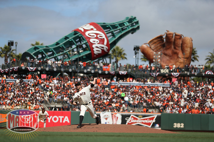 SAN FRANCISCO, CA - APRIL 5:  Barry Zito #75 of the San Francisco Giants pitches against the St. Louis Cardinals during opening day at AT&T Park on Friday, April 5, 2013 in San Francisco, California. Photo by Brad Mangin