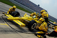 11 September, 2005, Joliet,IL,USA<br /> Tomas Scheckter makes a pit stop.<br /> Copyright&copy;F.Peirce Williams 2005