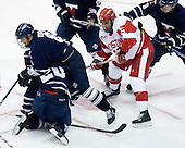 Robert Kay (Toronto - 20), Bryden Teich (Toronto - 8), Ryan Santana (BU - 15), Cameron Bernier (Toronto - 3) - The Boston University Terriers defeated the visiting University of Toronto Varsity Blues 9-3 on Saturday, October 2, 2010, at Agganis Arena in Boston, MA.