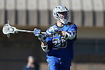 08 February 2015: Air Force's Christopher Allen. The Duke University Blue Devils hosted the United States Air Force Academy Falcons at Koskinen Stadium in Durham, North Carolina in a 2015 NCAA Division I Men's Lacrosse match. Duke won the game 13-7.