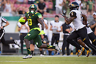 Tampa, FL - September 4th, 2016: South Florida Bulls running back Darius Tice (13) scores a touchdown on a long run during the first half of their game against Towson at Raymond James Stadium in Tampa, FL. (Photo by Phil Peters/Media Images International)