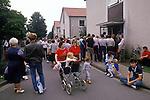 Friedland refugee camp West Germany. Polish refuges 1980's arrive having escaped from eastern Europe.