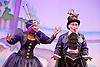 Jack and the Beanstalk <br /> by Susie McKenna with music by Steven Edis <br /> at the Hackney Empire, London, Great Britain <br /> press photocall <br /> 25th November 2015  <br /> <br /> <br /> Darren Hart as Clumsy Colin<br /> <br /> Georgia Oldman as Off Her Trolley Molly<br /> <br /> <br /> Photograph by Elliott Franks <br /> Image licensed to Elliott Franks Photography Services