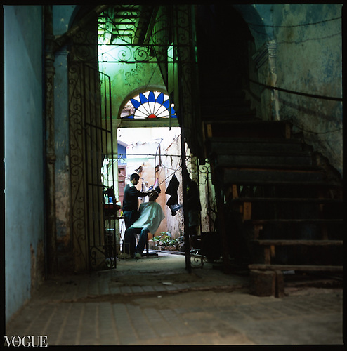 Cuban Barber Shop, Old Havana, Cuba by Paul Cooklin