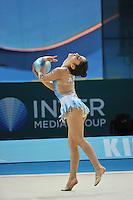 August 28, 2013 - Kiev, Ukraine - Valeska Gonzalez Olivares of Chile performs at 2013 World Championships.