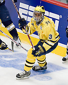 Scooter Vaughan (Michigan - 3) - The University of Notre Dame Fighting Irish defeated the University of Michigan Wolverines 5-4 in overtime in their 2008 Frozen Four Semi-Final matchup on Thursday, April 10, 2008, at the Pepsi Center in Denver.