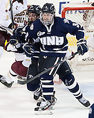 Dalton Speelman (UNH - 10), Austin Block (UNH - 3) - The Boston College Eagles defeated the visiting University of New Hampshire Wildcats 5-2 on Friday, January 11, 2013, at Kelley Rink in Conte Forum in Chestnut Hill, Massachusetts.