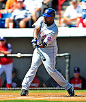 10 March 2009: New York Mets' second baseman Marlon Anderson at bat during a Spring Training game against the Washington Nationals at Space Coast Stadium in Viera, Florida. The Nationals and Mets tied 5-5 in the 10-inning Grapefruit League matchup. Mandatory Photo Credit: Ed Wolfstein Photo