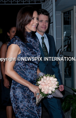 "CROWN PRINCESS MARY AND CROWN PRINCE FREDERIK.attend dinner at the Ambassador, Residence, Hanoi.The Danish Royals being a five day State Visit to the Socialist Republic of Vietnam tomorrow_01/11/2009.Mandatory Photo Credit: ©Dias/Newspix International..**ALL FEES PAYABLE TO: ""NEWSPIX INTERNATIONAL""**..PHOTO CREDIT MANDATORY!!: NEWSPIX INTERNATIONAL(Failure to credit will incur a surcharge of 100% of reproduction fees)..IMMEDIATE CONFIRMATION OF USAGE REQUIRED:.Newspix International, 31 Chinnery Hill, Bishop's Stortford, ENGLAND CM23 3PS.Tel:+441279 324672  ; Fax: +441279656877.Mobile:  0777568 1153.e-mail: info@newspixinternational.co.uk"