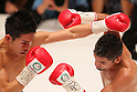 (L to R) Kazuto Ioka (JPN),  Juan Hernandez (Mex), AUGUST 10, 2011 - Boxing : Kazuto Ioka of Japan in action against Juan Hernandez of Mexico during the WBC Minimum weight title bout at Korakuen Hall, Tokyo, Japan. Kazuto Ioka of Japan ..won the fight on points after twelve rounds. (Photo by Yusuke Nakanishi/AFLO) [1090]