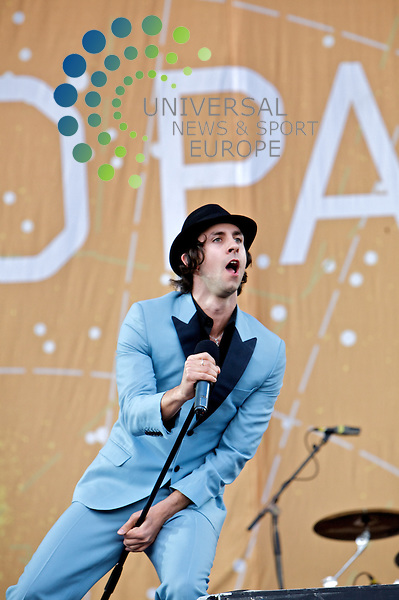 .Maximo Park at T in the Park.Picture: 10/07/09 Universal News and Sport/ Stephen McLeod Blythe
