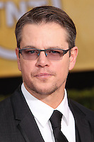 LOS ANGELES, CA - JANUARY 18: Matt Damon at the 20th Annual Screen Actors Guild Awards held at The Shrine Auditorium on January 18, 2014 in Los Angeles, California. (Photo by Xavier Collin/Celebrity Monitor)