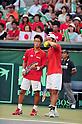 (L to R) Yuichi Sugita (JPN), Tatsuma Ito (JPN), SEPTEMBER 17, 2011 - Tennis : Davis Cup by BNP Paribas 2011 World Group play-off match Tatsuma Ito/Yuichi Sugita (JPN) 1(5-7 6-3 3-6 6-7)3 Rohan Boppana/Mahesh Bhupathi (IND) at Ariake Colosseum, Tokyo, Japan. (Photo by Jun Tsukida/AFLO SPORT) [0003]