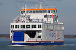 New, Car Wight Link, Ferry, Pier, lifebelt, Yarmouth, Isle of Wight, England, UK, Photographs of the Isle of Wight by photographer Patrick Eden