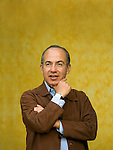 Portrait of then President Felipe Calderon of Mexico