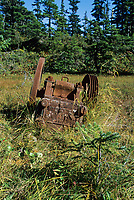 Relic mining equipment from an old mining area on the western shores of Port Wells in western Prince William Sound, Alaska