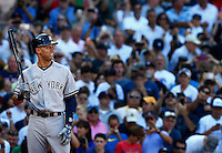 Derek Jeter #2 of the New York Yankees stands at home plate during his final at bat and hit of his career against the Boston Red Sox in the third inning at Fenway Park on September 27, 2014 in Boston, Massachusetts. (Photo by Jared Wickerham for the New York Daily News)