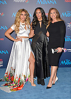 "HOLLYWOOD, CA - NOVEMBER 14: Dinah Jane Hansen, Simone Alexandra Johnson and Dany Garcia attend the AFI FEST 2016 Presented By Audi - Premiere Of Disney's ""Moana"" at the El Capitan Theatre in Hollywood, California on November 14, 2016. Credit: Koi Sojer/Snap'N U Photos/MediaPunch"