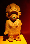Mayan ceramic figurine on display in the Museo Regional Potosino, San Luis de Potosi, Mexico