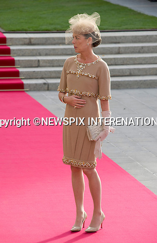"""PRINCESS CAROLINE OF HANOVER.Wedding of HRH the Hereditary Grand Duke and Countess Stéphanie de Lannoy.Religious Ceremony at Cathedral of Our lady of Luxembourg, Luxembourg_20-10-2012.Mandatory credit photo: ©Dias/NEWSPIX INTERNATIONAL..(Failure to credit will incur a surcharge of 100% of reproduction fees)..                **ALL FEES PAYABLE TO: """"NEWSPIX INTERNATIONAL""""**..IMMEDIATE CONFIRMATION OF USAGE REQUIRED:.Newspix International, 31 Chinnery Hill, Bishop's Stortford, ENGLAND CM23 3PS.Tel:+441279 324672  ; Fax: +441279656877.Mobile:  07775681153.e-mail: info@newspixinternational.co.uk"""