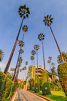 The Beverly Hills Hotel on Sunset Boulevard, Beverly Hills, CA, California