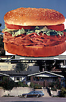 Arby's roast beef sandwich billboard in Hollywood circa 1980