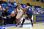 15 November 2016: Duke's Lexie Brown (left) and Longwood's Jada Russell (right). The Duke University Blue Devils hosted the Longwood University Lancers at Cameron Indoor Stadium in Durham, North Carolina in a 2016-17 NCAA Division I Women's Basketball game. Duke won the game 105-48.