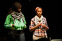 """18/05/2011.  """"Mad Blud"""" opens at Theatre Royal Stratford East. A new work exploring the reality behind the headlines of knife crime. Picture shows Anna-Maria Nabiriye and Joanne Sandi. Photo credit should read Jane Hobson"""