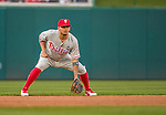22 May 2015: Philadelphia Phillies infielder Freddy Galvis in action during a game against the Washington Nationals at Nationals Park in Washington, DC. The Nationals defeated the Phillies 2-1 in the first game of their 3-game weekend series. Mandatory Credit: Ed Wolfstein Photo *** RAW (NEF) Image File Available ***