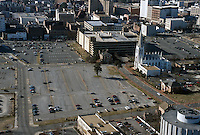 1995 February ..Redevelopment..Macarthur Center.Downtown North (R-8)..HELICOPTER SHOT LOOKING WEST OVER SCHOOL ADMINISTRATION BUILDING...NEG#.NRHA#..