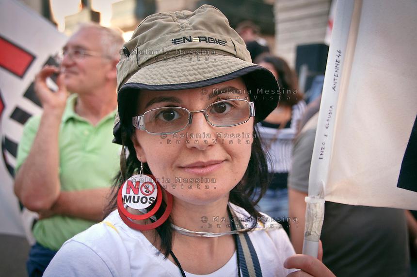 Palermo: demonstration against the construction of MUOS by USA in Sicily.<br /> Palermo, proteste contro l'installazione del MUOS nella base americana di Niscemi