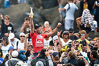 JOEL PARKINSON (AUS) winner of the Quiksilver Pro Gold Coast   KIRRA, Australia (Wednesday, March 11, 2009) - Surf in the six-to-eight foot (3 metre) range was pounding along the Gold Coast's world-renowned Superbank this morning, providing a dramatic forum for the climax of the Quiksilver Pro Gold Coast presented by LG Mobile. Local surf Joel Parkinson (AUS) won the event with  a perfect 10 point tube ride in the dying minutes of the fnial from Brazilian surfer Adriano de Souza (Bra) who finished in second place. Parkinson now leads the world ratings with de Souza in the #2 position. Mick Fanning (Aus) and Taj Burrow (Aus) finished =3rd in the contest...Event No. 1 of 10 on the 2009 ASP World Tour, the Quiksilver Pro Gold Coast enters into its third location of the event, with early rounds running at Duranbah Beach before relocating to the primary site at Snapper Rocks to today's venue at nearby Coolangatta Beach..  Photo: joliphotos.com