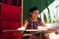 Lago Atitlan, Guatemala, March 2012. weavers, painters and artists live in the maya village of San Juan la Laguna. Laguna de Atitlán, Lake Atitlan, is a beautiful volcanic lake in the Western Highlands of Guatemala. It is ringed by small towns, many of which are favourites among backpackers. The region encompasses the lake and the towns around them. Panajachel is best known, and a good entry point Guatemala is a great country to experiencce the Mayan lifestyle and see the ruins of ancient cultures. Photo by Frits Meyst/Adventure4ever.com