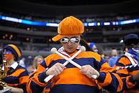 A Bucknell band member shows her team spirit during the NCAA tournament at the Verizon Center in Washington, D.C. on Thursday, March 17, 2011. Alan P. Santos/DC Sports Box