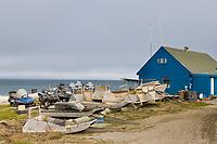 Inupiaq village of Utqiagvik (Barrow), Alaska, along the Arctic ocean.