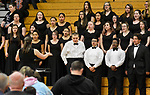 TORRINGTON, CT-042017JS17- Members of the Torrington High School chamber choir sing their set during the Torrington Public School's district wide Choral Celebration concert held Thursday at Torrington High School. The concert comes as the district was once again named Best Communities for Music Education in America 2017. <br /> Jim Shannon Republican-American