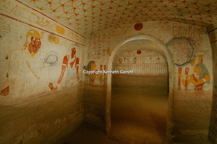 Pharaoh Tamwetamani, last king, Tomb chamber and painting details,Black Pharaohs, Nubians, Sudan, El Kurru, cemetery, Piye, Late Period, 25th Dynasty